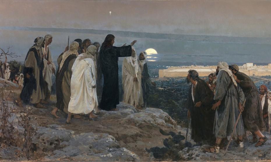 Jésus entrant à Jérusalem/ Flevit super illam (Il pleura sur elle) par Enrique Simonet, 1892/©Wikimedia nommons