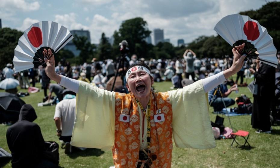Une supportrice japonaise aux Jeux Olympiques de Tokyo - YASUYOSHI CHIBA  AFP