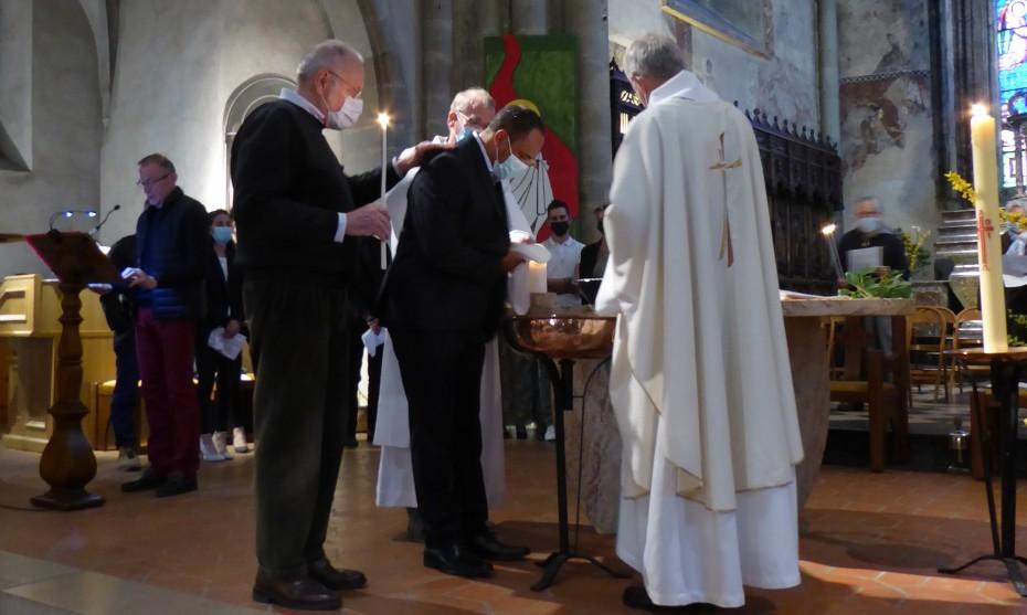 2021 Baptême à Pâques dans la paroisse Saint André en Gavot Léman
