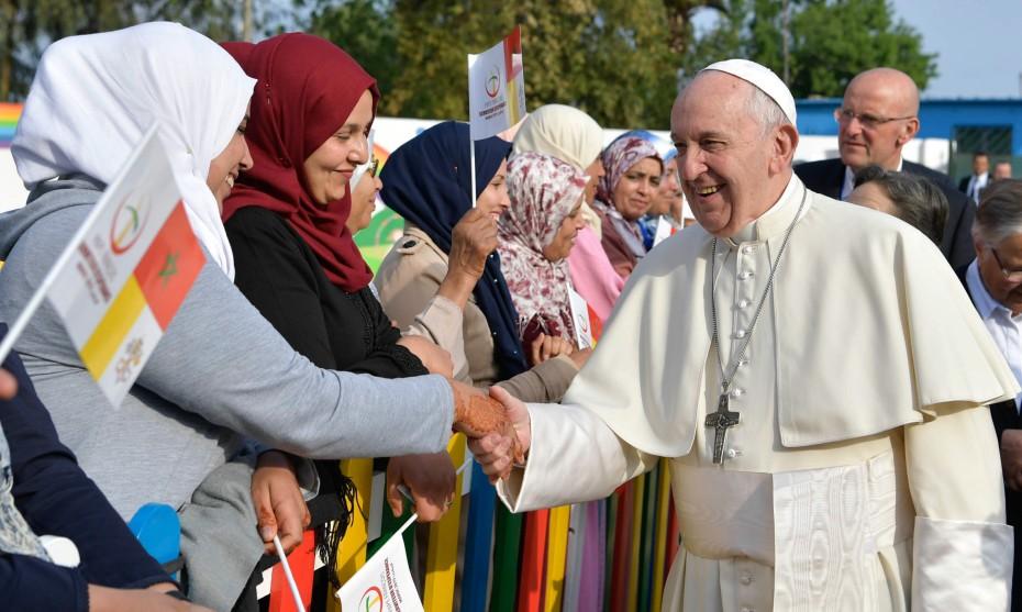 31 mars 2019 : Visite privée du Pape François au centre rural des services sociaux de Témara, ville située au sud de l'agglomération de Rabat, Maroc. / ©VaticanMedia-Foto/CPP/CIRIC