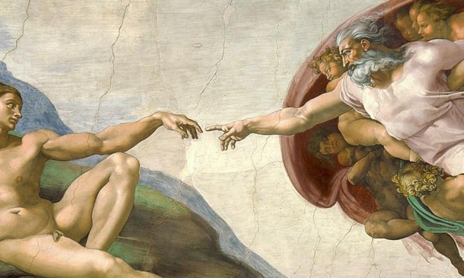 Wikimédia Commons - La Création d'Adam, par Michel-Ange, Chapelle Sixtine (Rome)