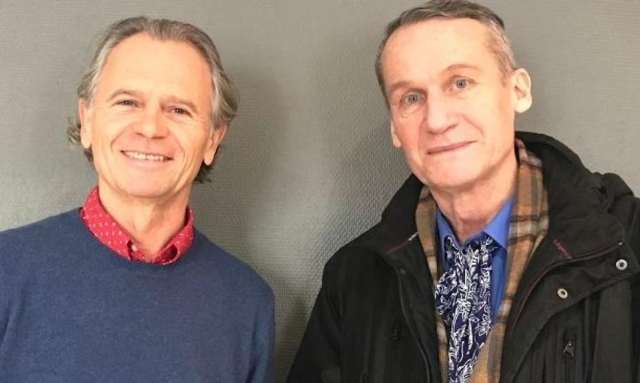 Thierry Lyonnet (gauche) et Andreï Makine (droite)