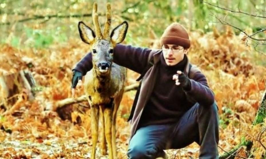 Geoffroy Delorme avec son ami Chévi. (Photo Geoffroy Delorme)