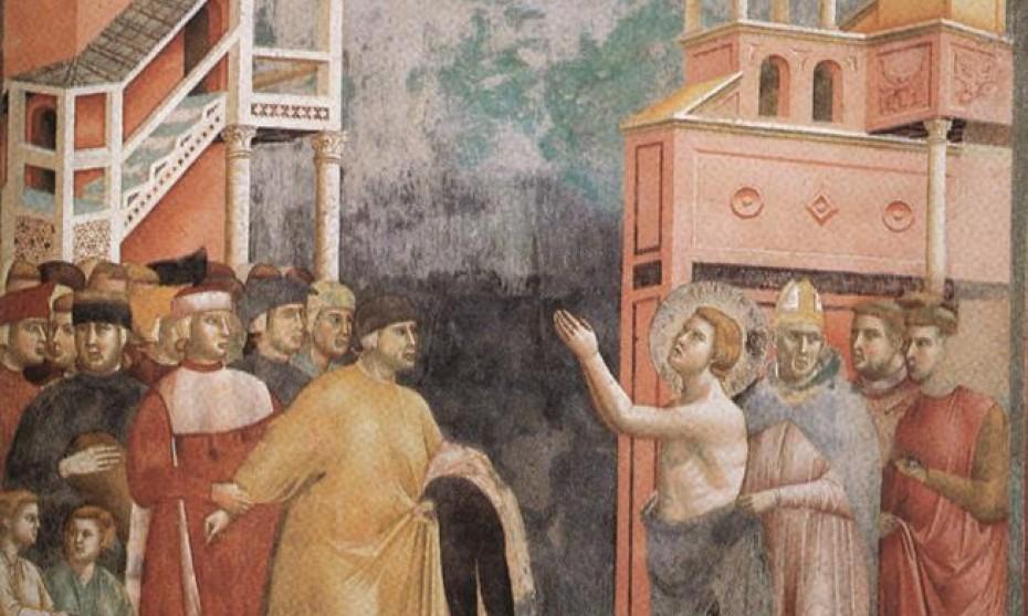 2017 Giotto Basilique d'Assise Saint François renonce à ses biens familiaux
