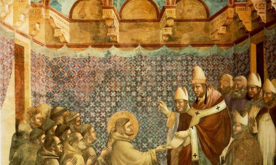 2017 - Giotto Assise - le pape Innocent III approuve la règle des Franciscains