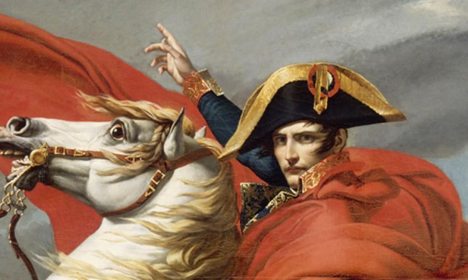 Wikimédia Commons - Napoléon traversant les Alpes, par Jacques-Louis David (1805)