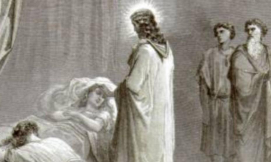 Résurrection de la fille de Jaïre, gravure de Gustave Doré.