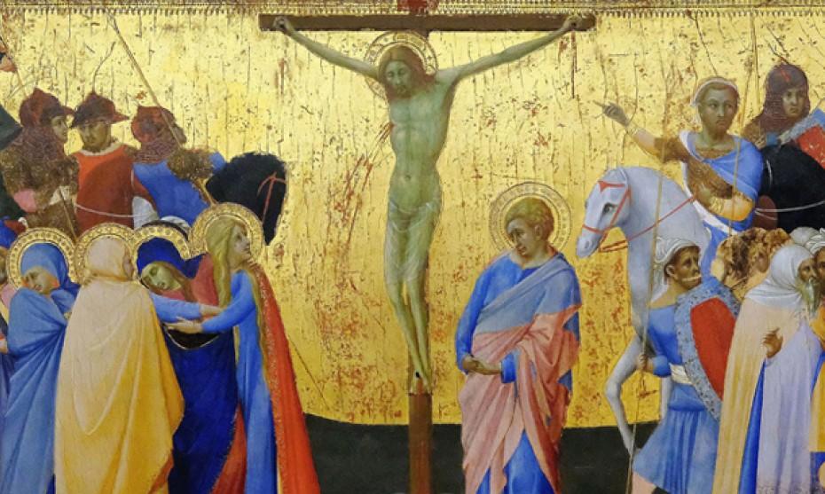 Wikimédia Commons - Crucifixion par Bartolomeo Bulgarini (1330), musée du Louvre