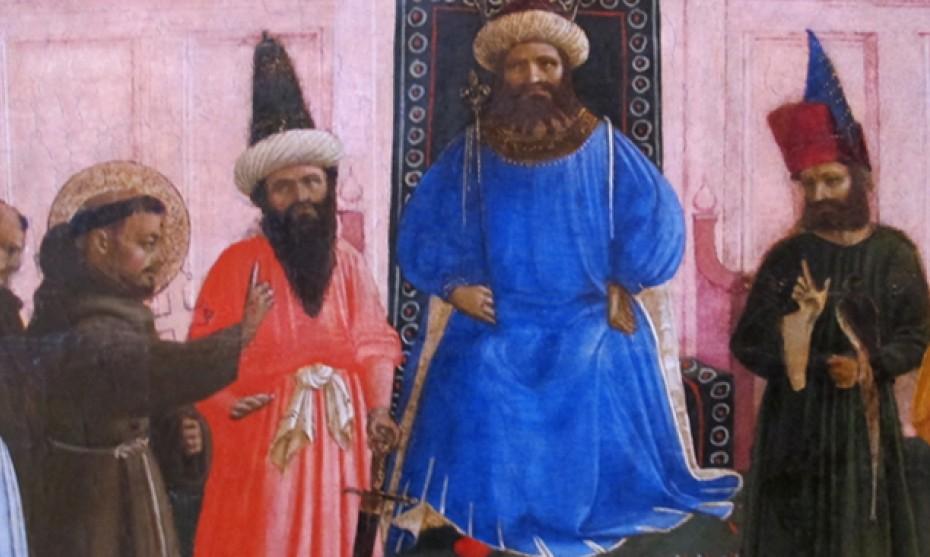 Wikimédia Commons - La Preuve par le feu de saint François devant le sultan, par Fra Angelico (1429)