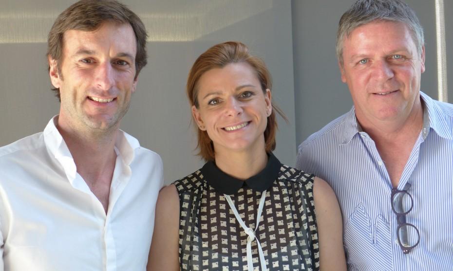 Photo RCF Alsace : André Bernhard, Anne Werey et Aurélien Maignant de l'association : Le rebond du Coeur
