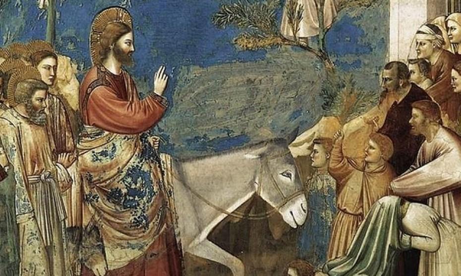 Wikimedia Commons -  Fresque de Giotto représentant l'entrée de Jésus-Christ dans Jérusalem.