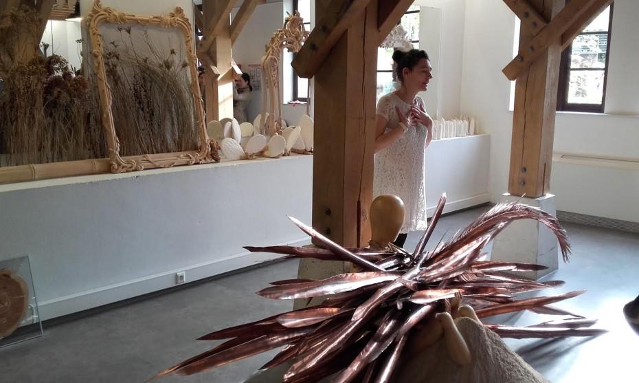 2017 - Julie Rolland - Marie Denis a pris le temps vendredi, d'expliquer au public, et au milieu de ses oeuvres, sa démarche de création.