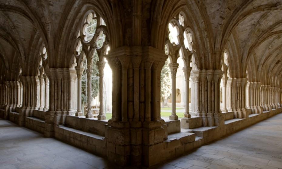 Wikimédia Commons - Le cloître de l'abbaye de Poblet