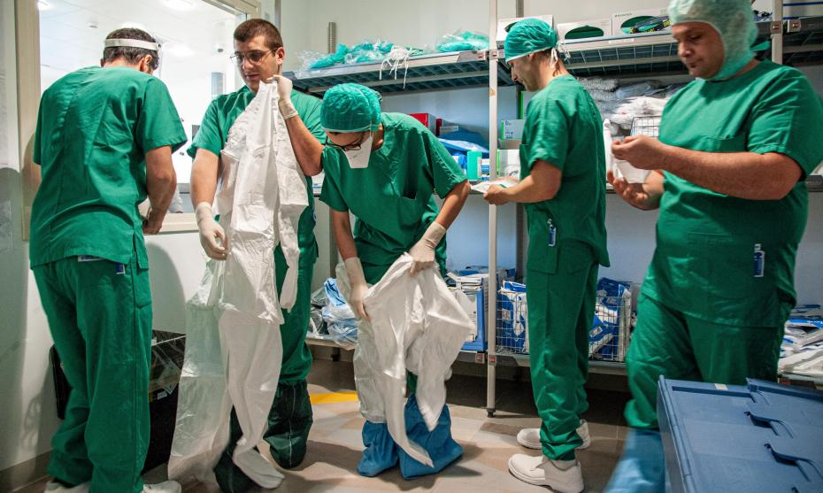 Personnel soignant face à l'épidémie de coronavirus Covid-19, Rome, Italie, le 9 avril 2020 ©M.MIGLIORATO/CPP/CIRIC