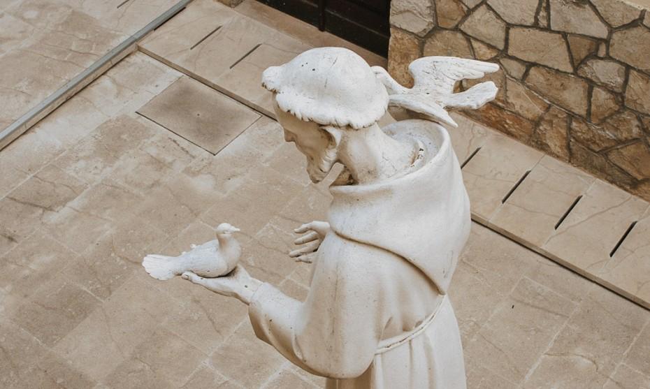 Statut de Saint François d'Assise parlant aux oiseaux /  © Fotolia – Zatletic | exvotodei