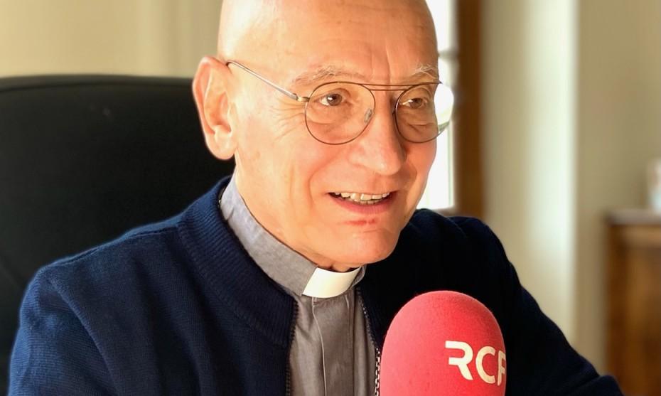 Mgr Marceau dans son bureau à Nice ce 5 octobre 2021 - Photo D. T.